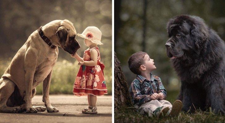 Bambini Minuscoli Con I Loro Cani Enormi: Le Loro Foto Vi Scalderanno Il Cuore