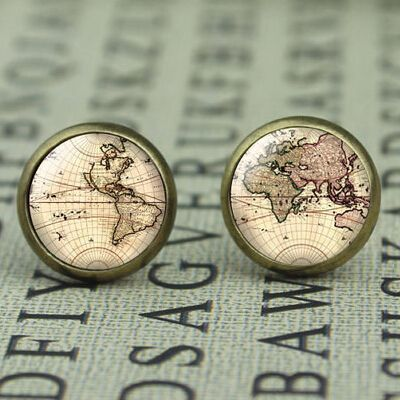 New US Movie Map Brass Post Man Women Glass Punk Jewelry Stud Harry potter The Lord of the Rings Map 1pair/lot The arrow vintage-in Stud Earrings from Jewelry & Accessories on Aliexpress.com   Alibaba Group