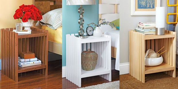 1-side-table_3-ways_combined-photo: Lowe Creative, Side Table, Creative Ideas, Lowe Diy, Headboards, Lowes With, Tables Ideas, Endtables