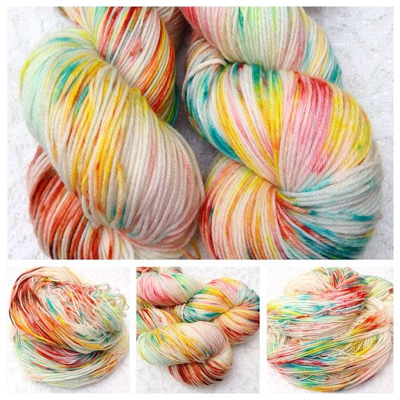 HandDrawns Swirl is a HandDrawnYarns signature hand dyed speckled yarn.  The yarn base is Super Soft 100 % Superwash Merino 100gm approx 400m (437yd) 4ply (US Fingering weight).  The yarn is dyed using professional dyes which is lightfast and colourfast.   Recommended Needle Size: 2.5 - 4mm needles Gauge (stocking stitch): 28sts x 36 rows over 10cm/4 inches on 3.25mm (US 3) needles  The yarn is perfect for knitting and crocheting garments, shawls, scarves, socks, or any colour work…