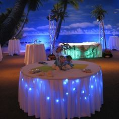 beach party table decorations for adults - Google-søgning