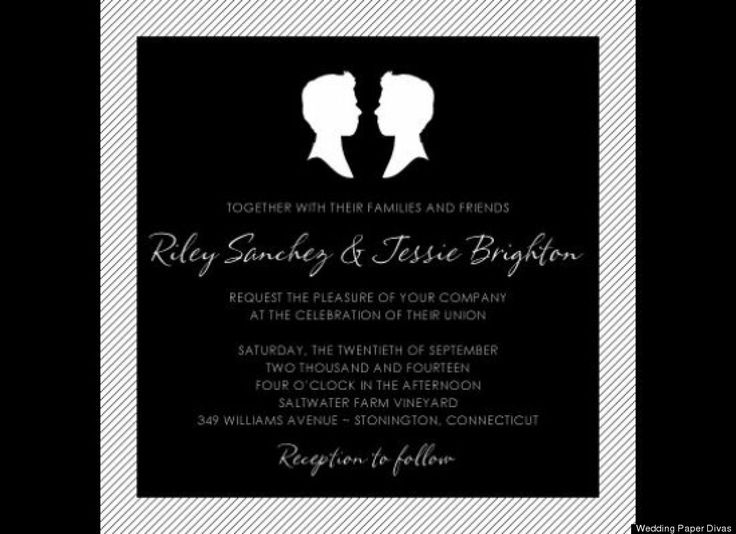 Gay Wedding Invite: 1000+ Ideas About Gay Wedding Invitations On Pinterest