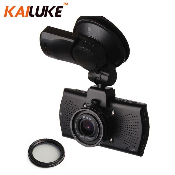 A7LA70 Ambarella Mobil Kamera DVR Full HD 1296 P WDR Night Vision Dash Cam Auto Perekam Video DVR Kotak Hitam GPS CPL A7810G Pro