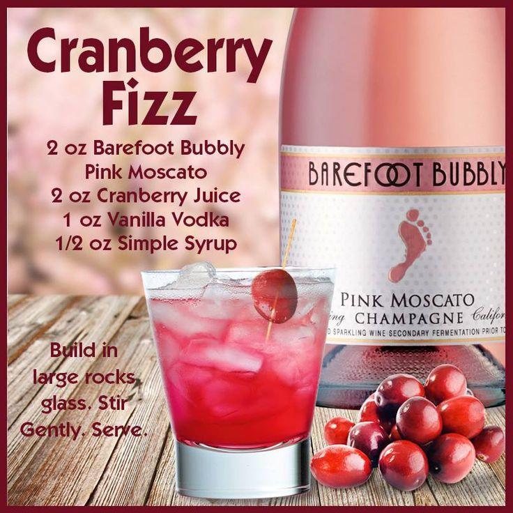 Barefoot Wine Recipes: Cranberry Fizz- wine cocktails