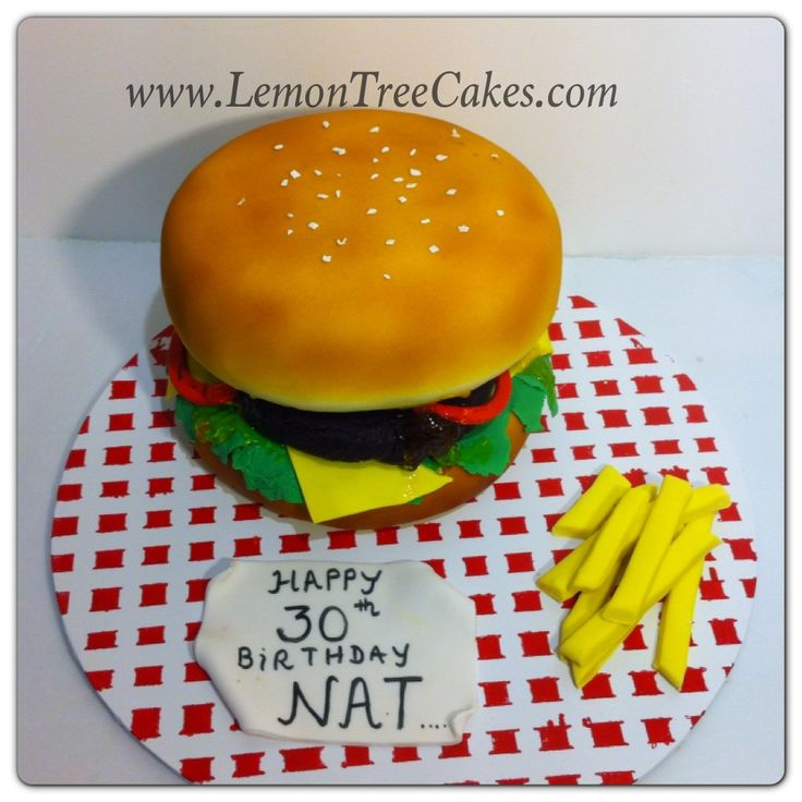 Burger and chips #novelty cake