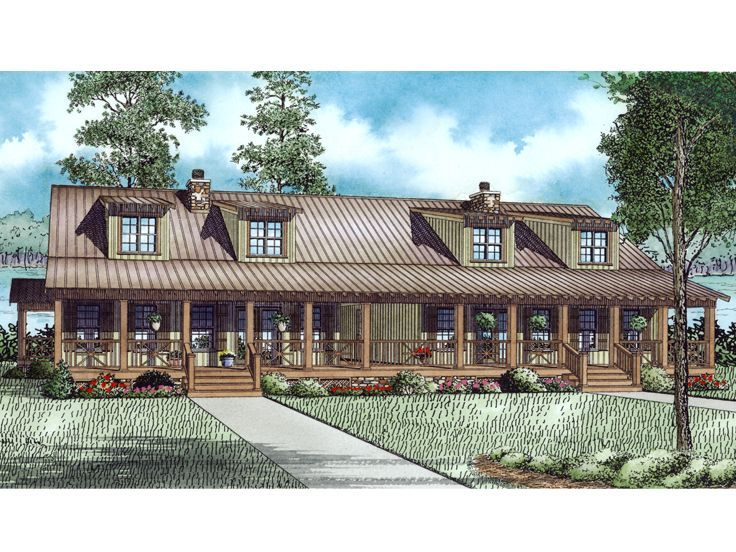 025M-0100: Country-Style Duplex House Plan