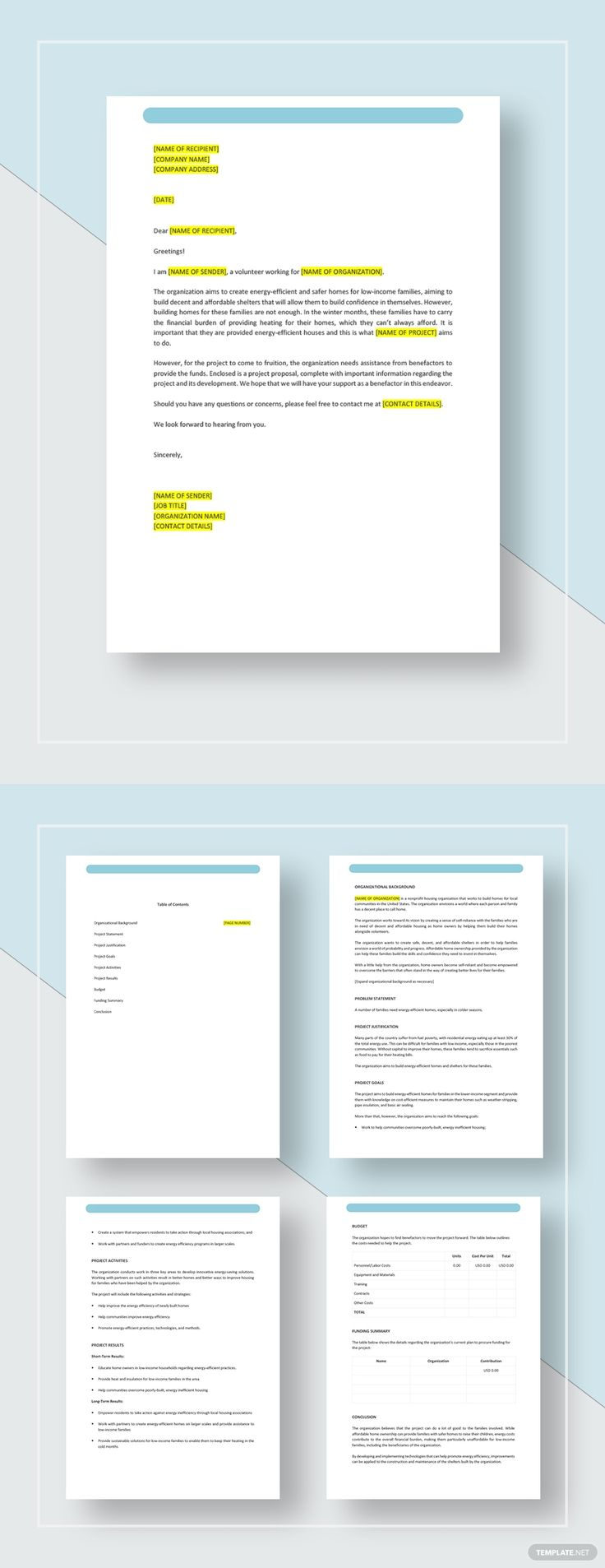 NGO Project Proposal Template AD, , SPONSORED, Project