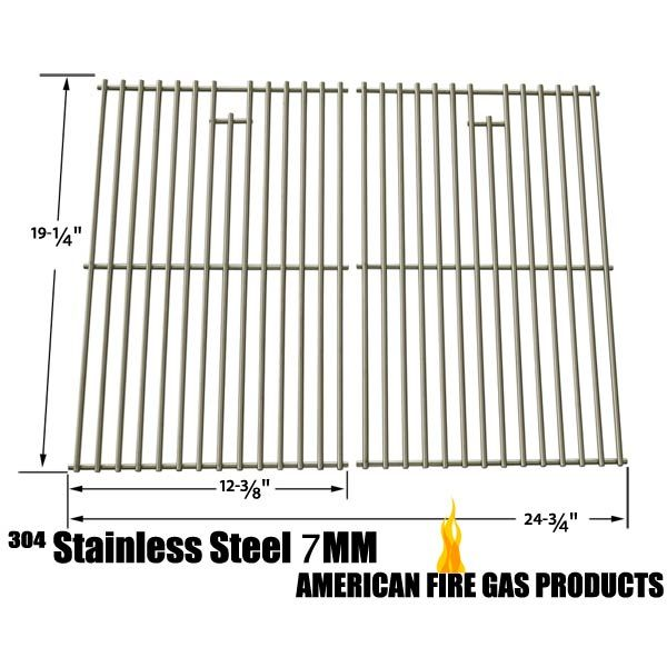 2 PACK STAINLESS COOKING GRID FOR GRILL MATE SR001-SB, BRINKMANN AUGUSTA 810-4040-B, AUSTIN 810-6330-B, GRAND GOURMET 2250 GAS GRILL MODELS Fits Compatible Grill Mate Models : SR001-SB Read More @http://www.grillpartszone.com/shopexd.asp?id=35728&sid=37649