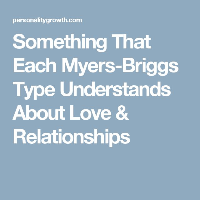 myers briggs types dating