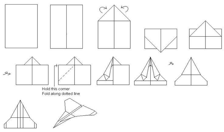 how to make a strike eagle paper airplane