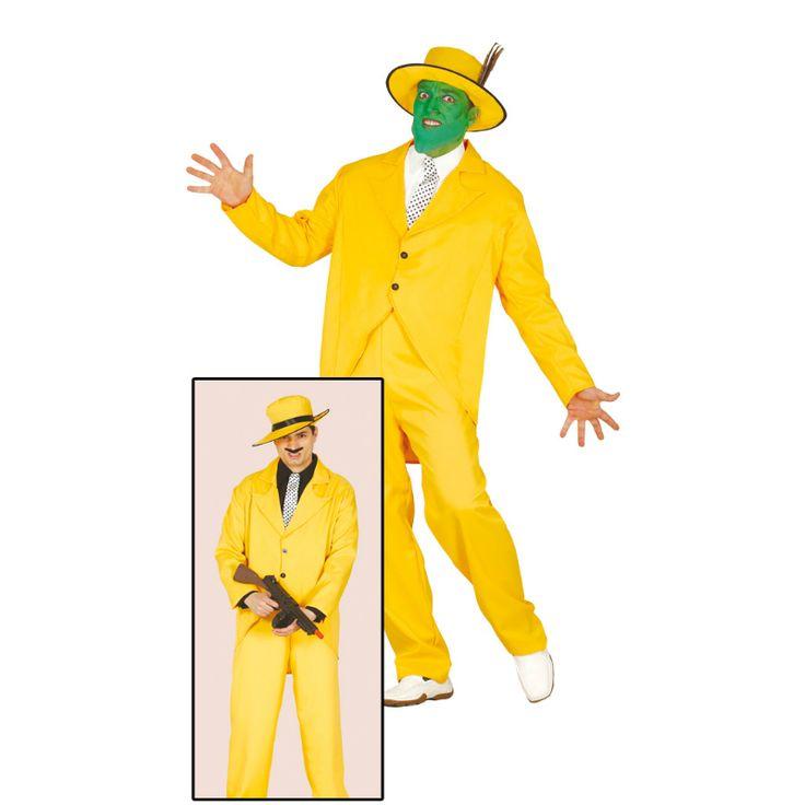 Disfraz de Gánster Amarillo #disfraces #carnaval #novedades2015