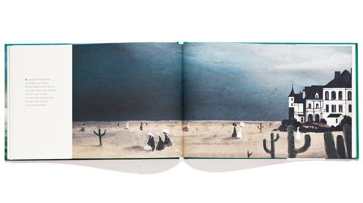 La mer et lui, text by Henri Meunier and illustrations by Régis Lejonc, published by Éditions Notari | Phileas Fogg Agency