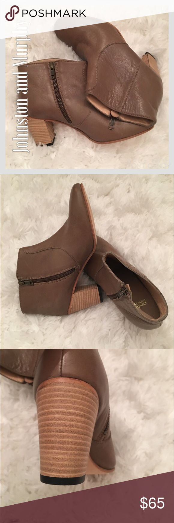 Johnston & Murphy Leather Tan Ankle Boots Johnston & Murphy Leather Tan Ankle Boots. Like new. Johnston & Murphy Shoes Ankle Boots & Booties
