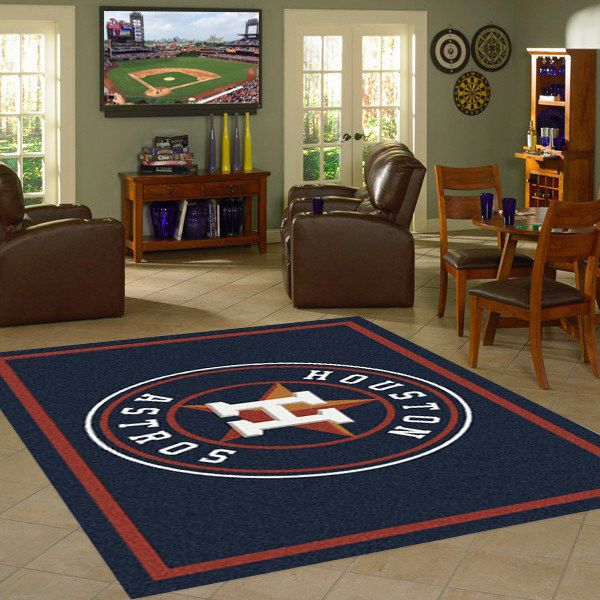 Houston Astros MLB Team Logo Spirit Rug