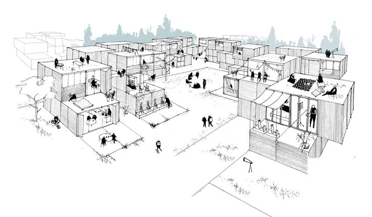 Modular Building Competition Ryterna (2nd place) - La comunidad, Spain