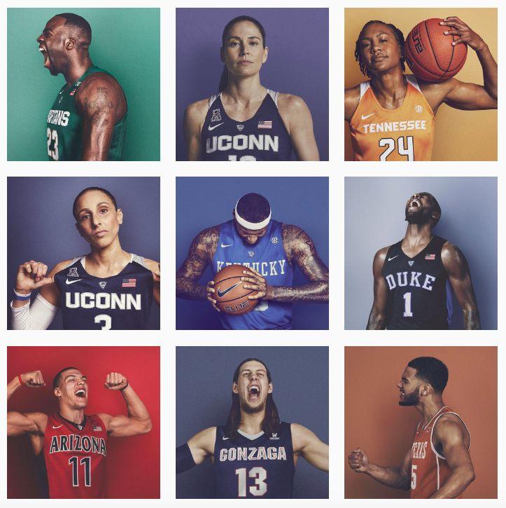 Nike photoshoot for 2016 NCAA Final Four