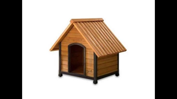 Tent roofed dog house