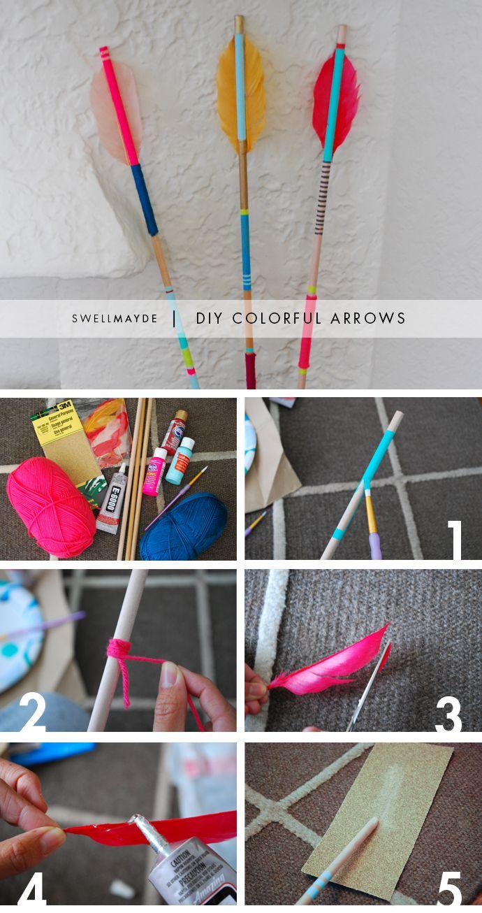 DIY COLORFUL ARROWS