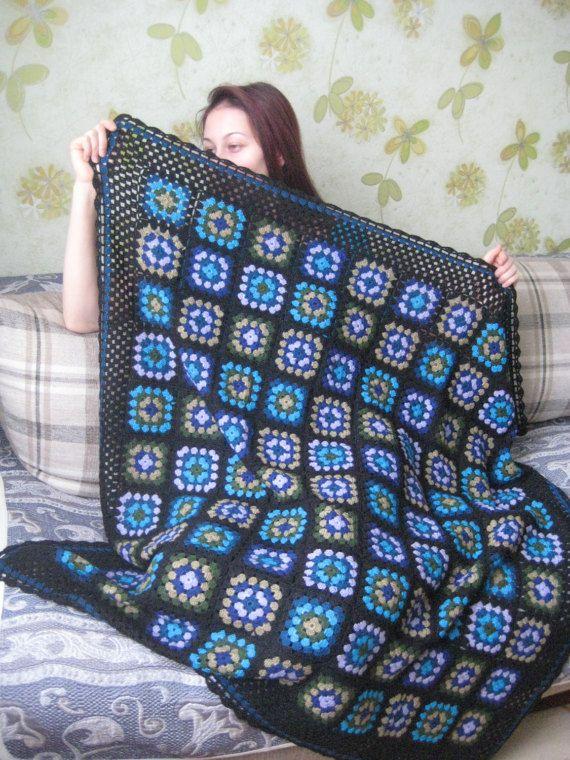 blanket knitted blanket blanket warm wool colored plaid