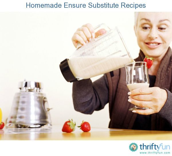 This guide is about homemade Ensure substitute recipes. When making a nutritional shake, you want to make sure it contains the essential nutrients.