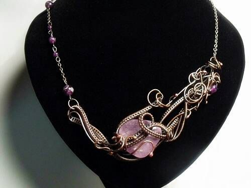 Check out this item in my Etsy shop https://www.etsy.com/listing/226089605/necklace-with-amethyst