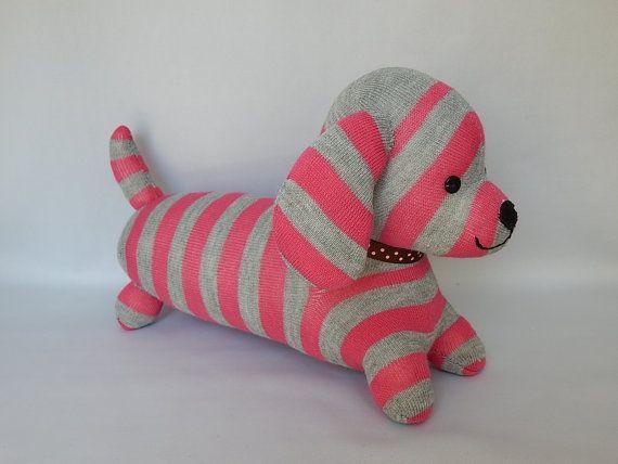 Dachshund Plush Toy Dog Stuffed Animal Plushie by SockSockWorld