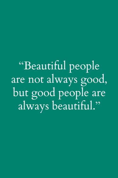 Good people/Beautiful people
