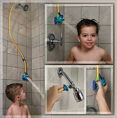 This shower head that brings things down to your toddler's level. | 24 Ingenious Products That Make Life With A Toddler So Much Easier