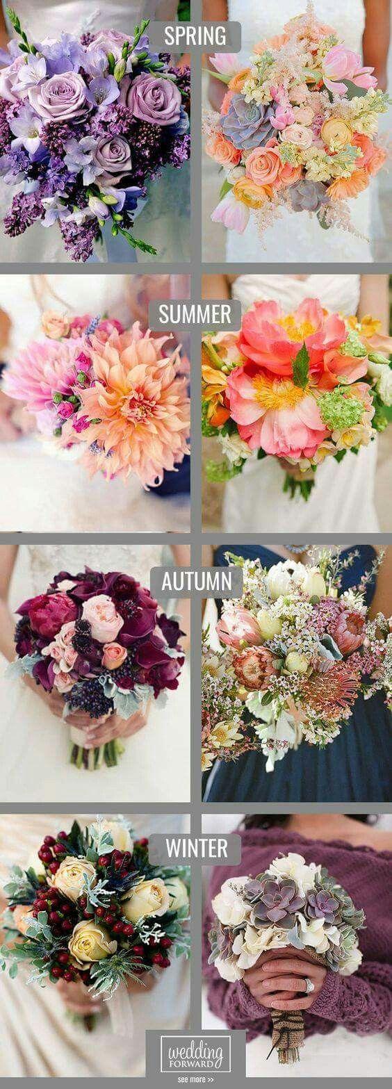 Saisonale Blumenbuquetts