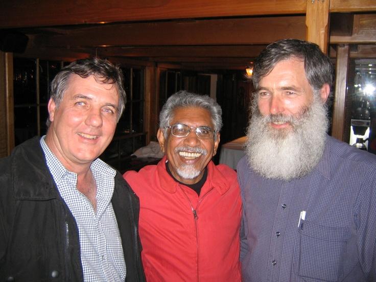 Hermann, Mac & I at Knysna. Mac, a long time associate of Mandela, Madiba