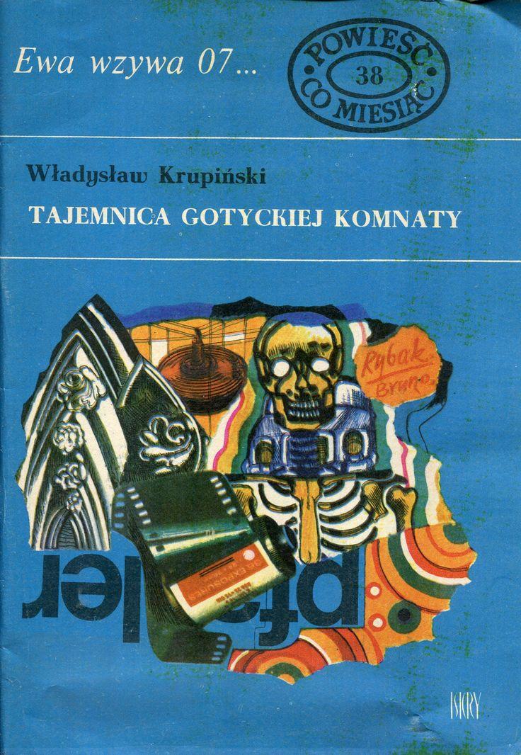 """""""Tajemnica gotyckiej komnaty"""" Władysław Krupiński Cover by Marian Stachurski Book series Ewa wzywa 07 Published by Wydawnictwo Iskry 1971"""