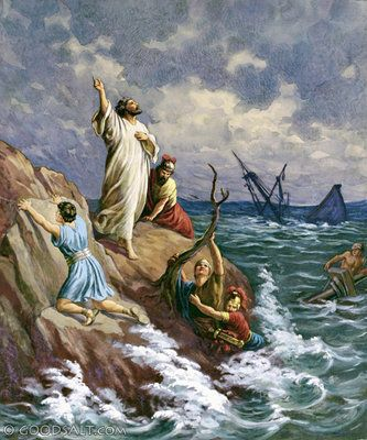 Acts 27: Paul Shipwrecked just before his healing ministry on the island of Melita/Malta:  Acts 28