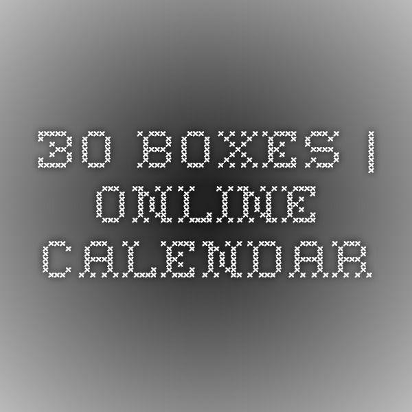 30 Boxes | Online Calendar