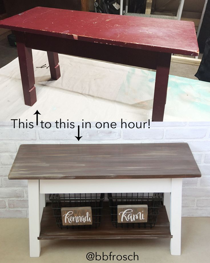 Before And After Bench ⋆ Chalk Paint Powder