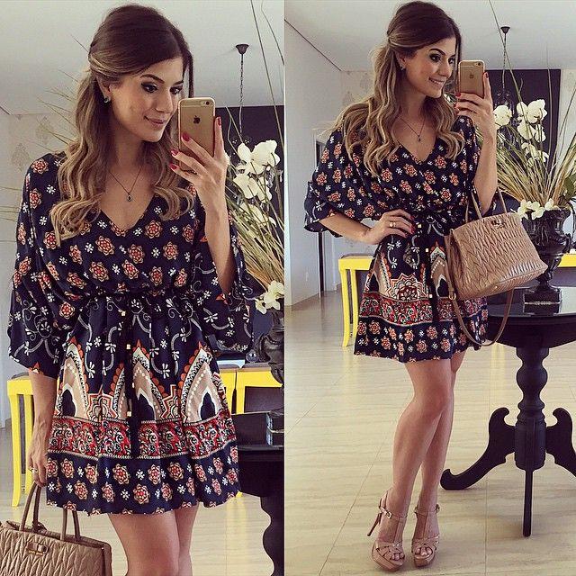 De hoje!! Vestido @morinafashion