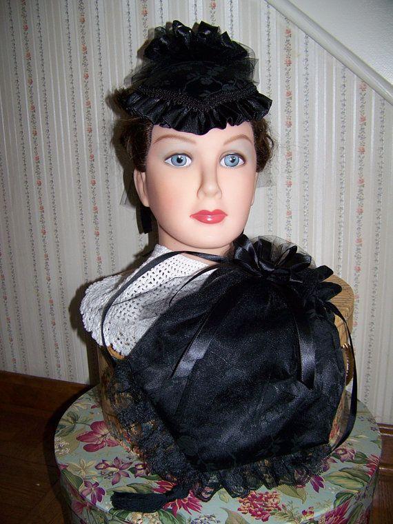 Civil War Hatand ReticuleVictorian LadiesBlack by civilwarlady, $49.99