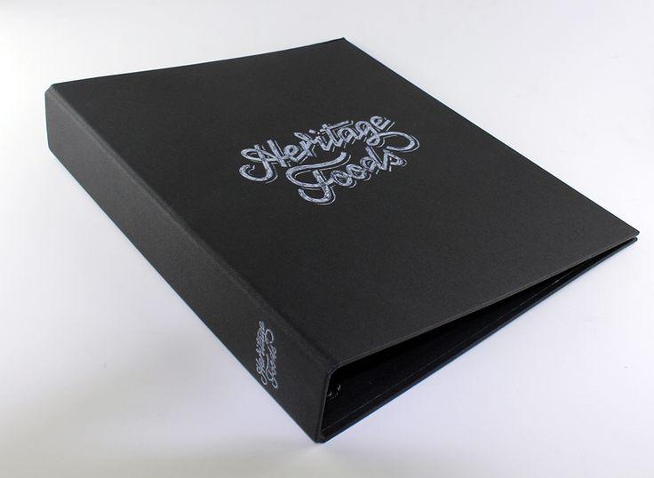 Ring Binder   A4 - Surface Printing - Print Wrap - Black Buckram - Ring Mechanism - Folder