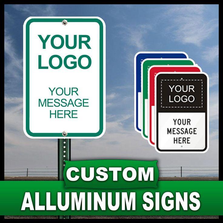 10 in. x 14 in. Custom Aluminum Sign, Unlimited Colors