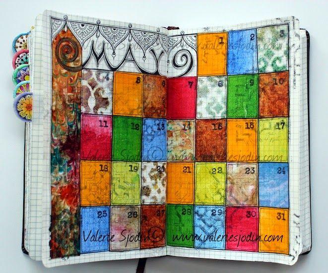 Art Journal Calendar Pages : Best calendar journaling images on pinterest art