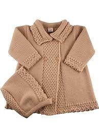 Resultado de imagen de abrigo punto bebé