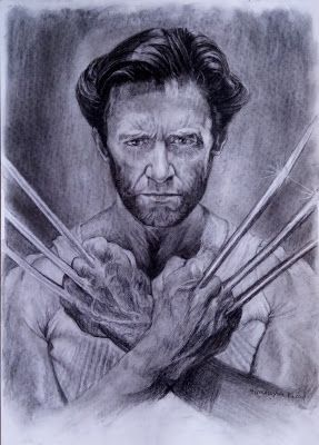 Filani Art: Logan (Wolverine) charcoal drawing
