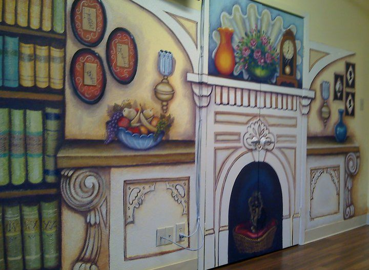 Must See! Alzheimer Secure Unit Nursing Retirement Home Mural Makeover :: Hometalk -- this is beautiful!