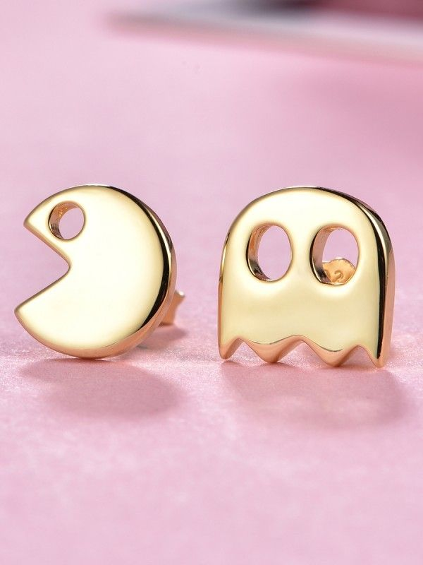 [ad] Mix and and match with the fun and funky Packman Stud Earrings, also avalable in silver and rose gold.