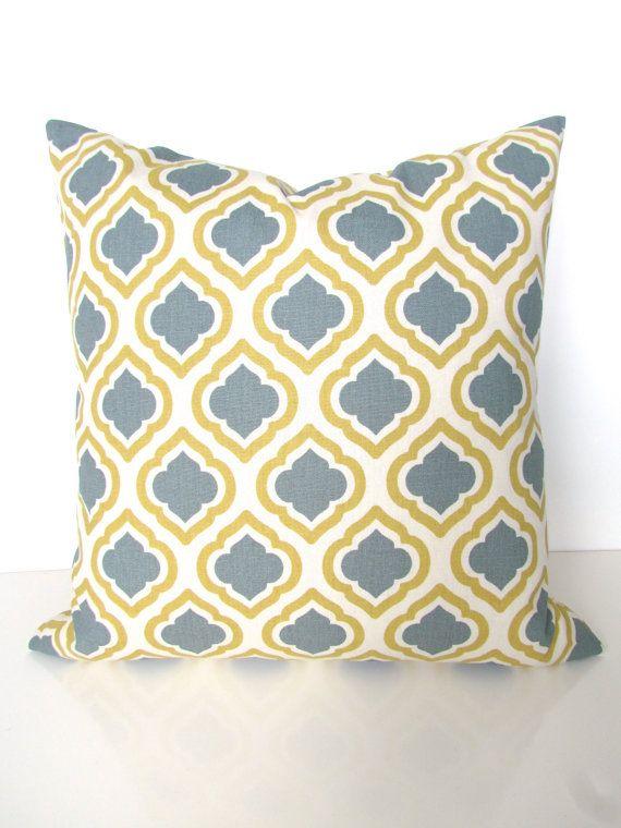 grey pillows yellow decorative throw pillows gray throw pillow cover 16 18x18 20 all sizes - Grey Throw Pillows