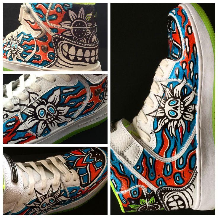 custom sneakers by @kartess