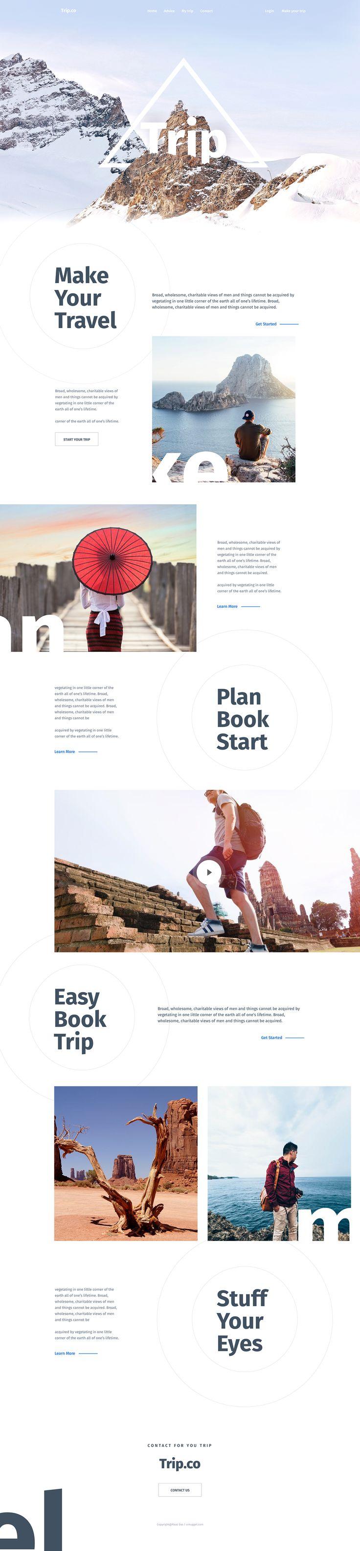 Travel Agency TRIP -  Ui design concept and visual identity by Surja Sen Das Raj