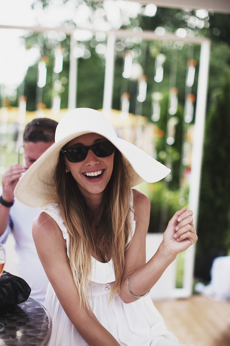 Megan Collins in summer whites for the Polo Classic.