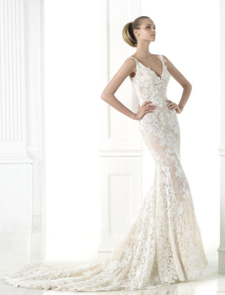 Tastefully Sexy Pronovias Wedding Dresses 2015 Fall Collection: http://www.modwedding.com/2014/10/22/tastefully-sexy-pronovias-wedding-dresses-2015-fall-collection/