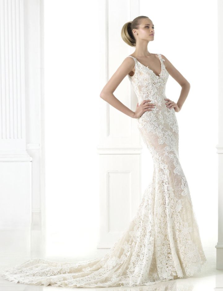 Tastefully Sexy Pronovias Wedding Dresses 2015 Fall Collection: http://www.modwedding.com/2014/10/22/tastefully-sexy-pronovias-wedding-dresses-2015-fall-collection/