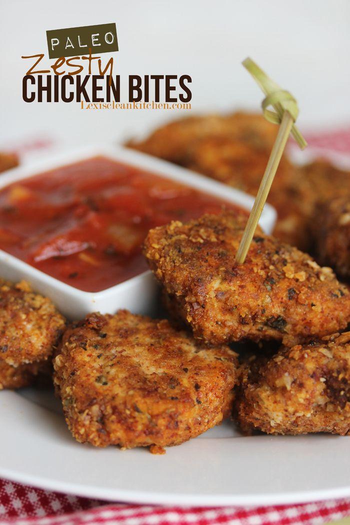 Paleo Zesty Chicken Bites #food #paleo #glutenfree